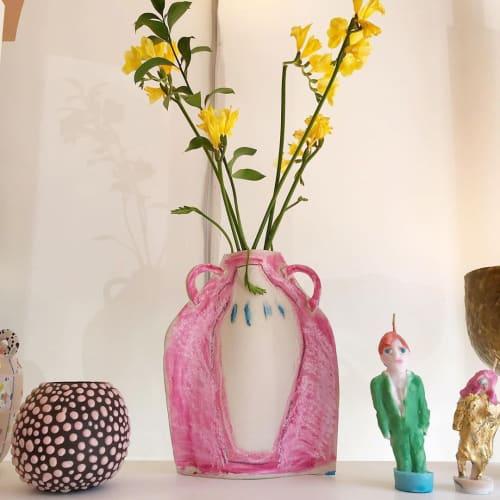 "Vases & Vessels by Clare Burson seen at Lolo, Brooklyn - ""Bumpy Eggg - Bubblegum on Asphalt"""
