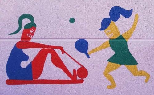 Street Murals by NOWHERELAND seen at Raffinaderivej 8, København - Sporting Health Club