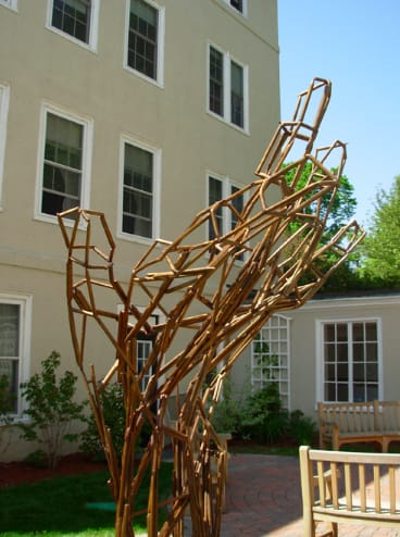 Pencil Project   Public Sculptures by Hilary Hutchison   The Fessenden School in Newton