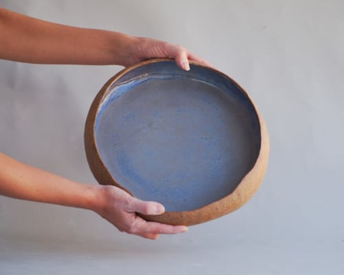 Ceramic Plates by T A R A D seen at ClayMake Studio, Maylands - Hand -Built Serving Bowl