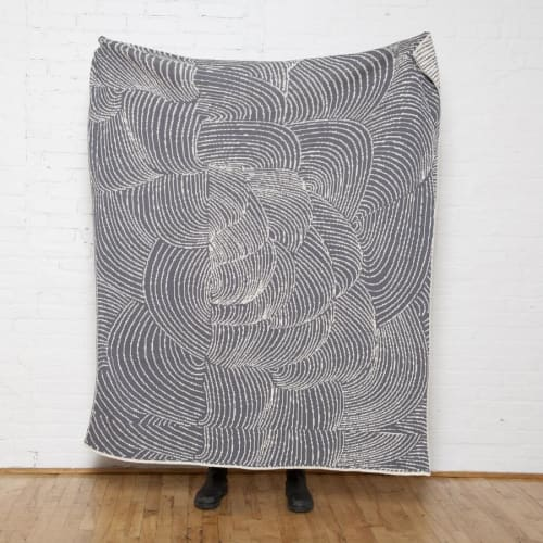 Linens & Bedding by Jill Malek Wallpaper - Cocoon Reversible Throw   Ceniza/smoke