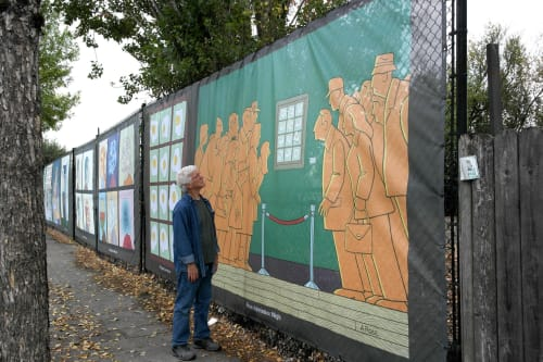 Street Murals by Alan Rose seen at Beaverton, Beaverton - Free Admission Night