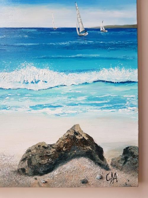 Art & Wall Decor by Carolina Arbuthnot seen at Elderberry Blacks Café, Knowle - Boats Racing