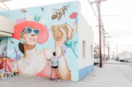 Murals by Celeste Byers seen at Private Residence, San Diego - Willamartha's Honey Pot