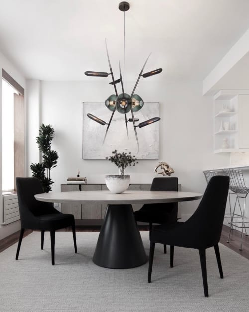 Chandeliers by Lumifer by Javier Robles seen at Private Residence, New York - KYOTO Chandelier and SATURN Table
