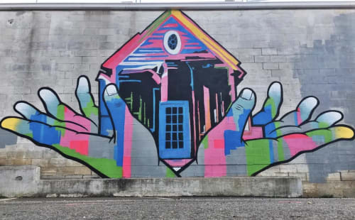 Street Murals by William Mize at Lindbergh, Atlanta - Open Arms