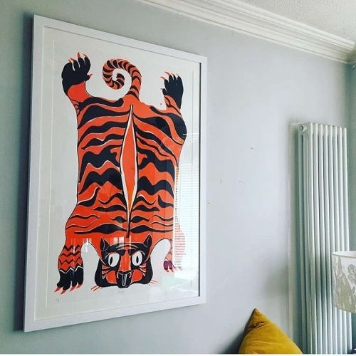 """Murals by Lucie Sheridan seen at Private Residence, Bristol - """"Grrrrr Tiger"""""""