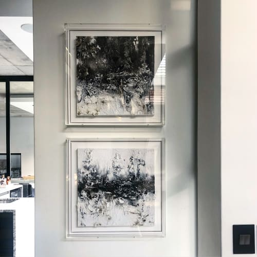 Paintings by Danielle Rovetti seen at Private Residence, Sandton - Surface 1.1 and 1.2