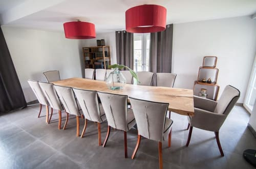Tables by Eldest Ltd. seen at Private Residence, Leicester - Single Slab Dining Table