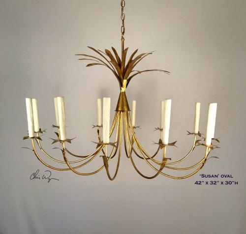 Chandeliers by Chris Wynne Designs seen at Private Residence, New Orleans - Chris Wynne Designs Custom Lighting