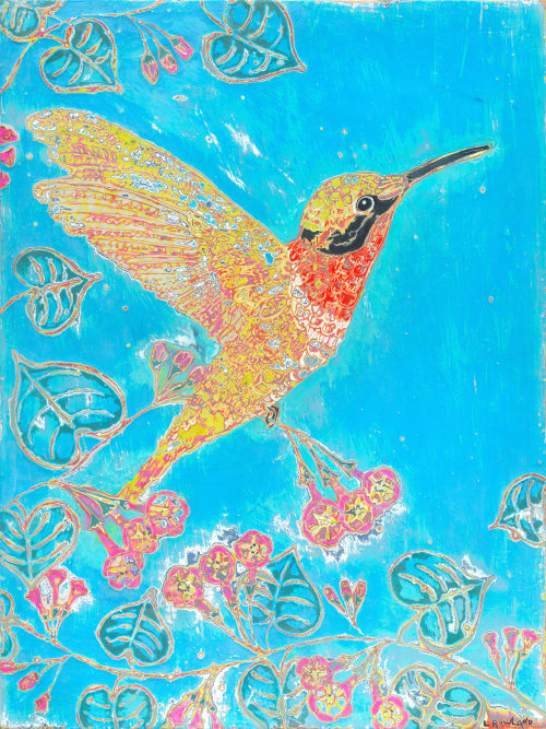 Paintings by L Rowland Contemporary Art seen at Tortola - Special Delivery - sold inquire about a similar work of art