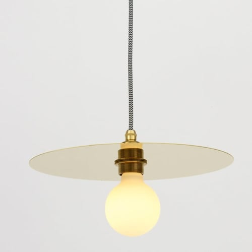 "Pendants by Spark & Bell seen at Private Residence, Brighton - ""Arc"" Large Brass Pendant Light"