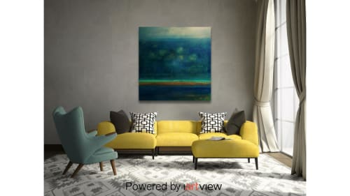 Paintings by Constance Pappalardo seen at Private Residence, Cary - In deep vaque spaces