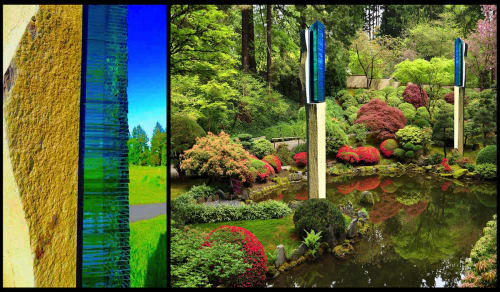 Sculptures by Walter Gordinier seen at Private Residence, Easthampton, NY, East Hampton - Zenith: Garden Sculptures