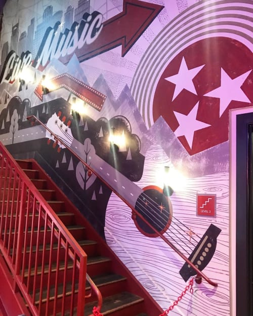 Murals by I Saw The Sign seen at Ole Red, Nashville - Ole Red Mural