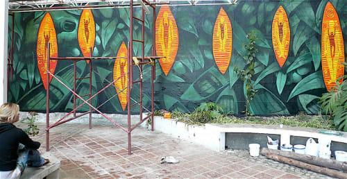 Street Murals by Frank Hyder Studios seen at Private Residence, Merida - Magic of Genetics
