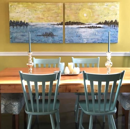 Paintings by willa vennema seen at Private Residence, Portland - Islands and Ocean Series
