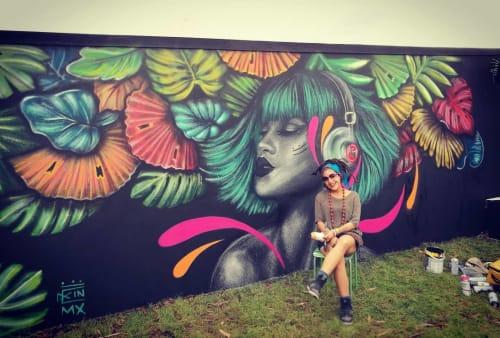 Street Murals by Kathrina Rupit - Kinmx seen at Stradbally Hall, Stradbally - Mural
