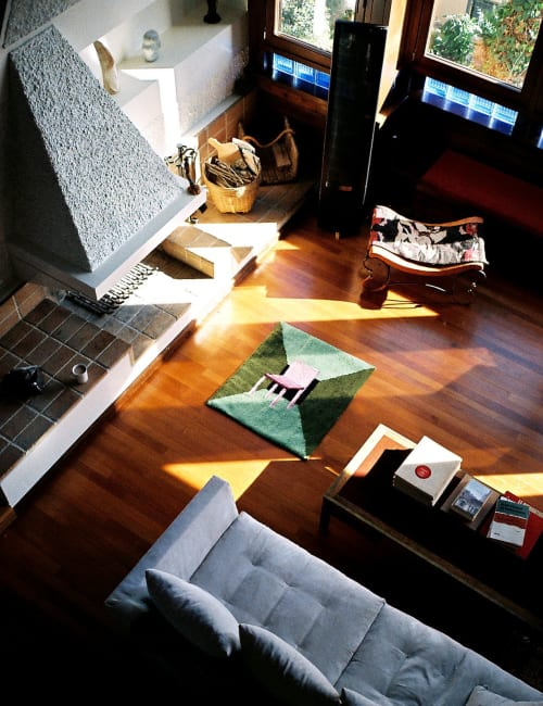 Rugs by Tatiana May seen at Private Residence, Athens - Sometimes I sit and think, sometimes I just sit