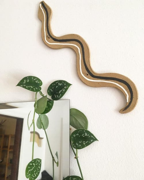 Sculptures by Kelsey Melville seen at Private Residence, Seattle - Snake Wall Art