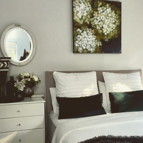 Paintings by Lisa Wisse-Robinson seen at North Sydney, North Sydney - Hydrangeas Series