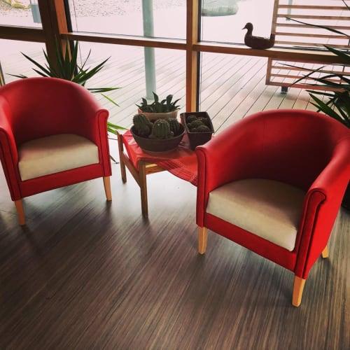 """Chairs by SETRADA seen at Bahnhofstraße, Schneckenlohe - """"Blanca"""" Armchair"""
