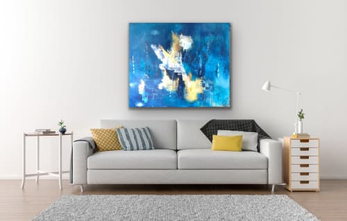 Paintings by Margaret Alice Høiesen seen at Private Residence, Tananger Norway, Tananger - Golden happiness. SOLD