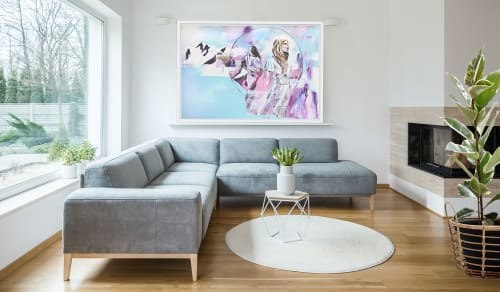Paintings by Hannah Adamaszek seen at Private Residence - Reflections of a Floating World