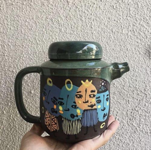 Utensils by Kizilkarakovan seen at Private Residence, Ankara - Ceramic teapot