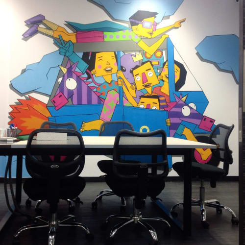 Murals by Adi Dharma seen at Sahid Sudirman Center - Indoor Wall Mural