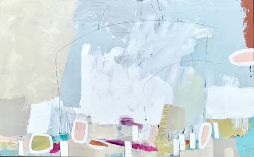 Paintings by Glenna Adkins seen at Private Residence, Winnetka - Abstract Painting