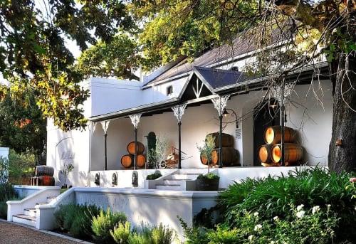 Architecture by Kritzinger Architects seen at Mont Rochelle, Franschhoek - Sir Richard Branson's Mont Rochelle Hotel & Mountain Vineyard Estate