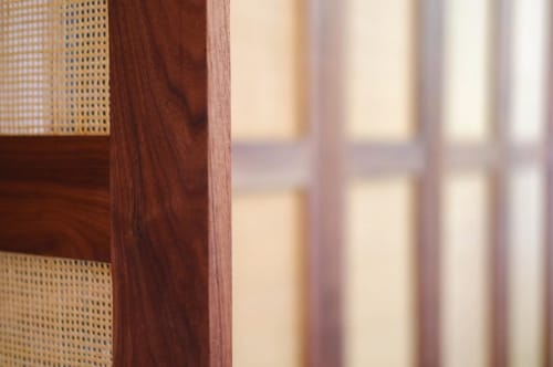 Furniture by Alder & Oil seen at Private Residence, Los Angeles - Walnut and cane doors