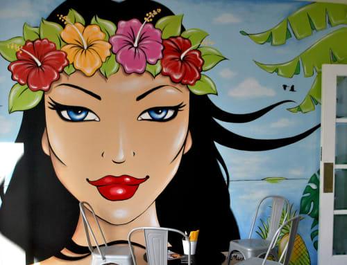 Murals by Caroline Mudge seen at Pullman Cairns International, Cairns City - Tropics