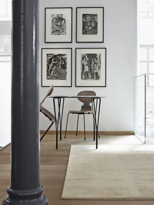 Rugs by Massimo Copenhagen seen at Fritz Hansen Store New York, New York - Earth Bamboo Soft Grey