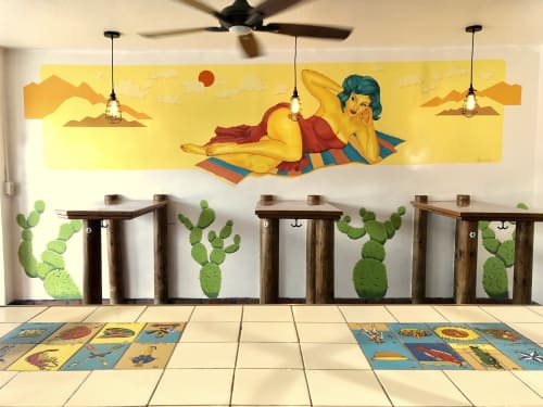 Murals by Bodeck Luna Hernandez seen at COCORENOS, Long Beach - Pin Up Girl