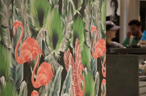 Wallpaper by Candice Kaye Design at Palm Lane, Toronto - Custom Wallpaper