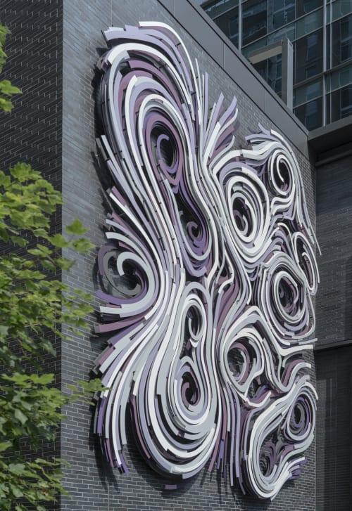 Public Sculptures by Rob Ley Studio seen at NCR Global Headquarters, Atlanta - Pangaea
