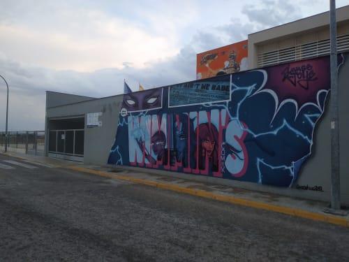 Art Curation by Savage Joys seen at IES Tomás de la Fuente Jurado, El Provencio - Tribute To Wimmin's Comix