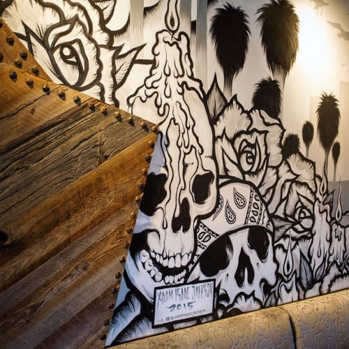 Murals by Adam Isaac Jackson seen at Mi Chola, Aspen - Mi Chola Mural