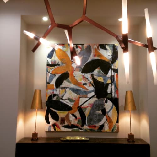 """Paintings by Brad Ellis - Artist seen at Private Residence, Austin - """"Mozambique"""""""
