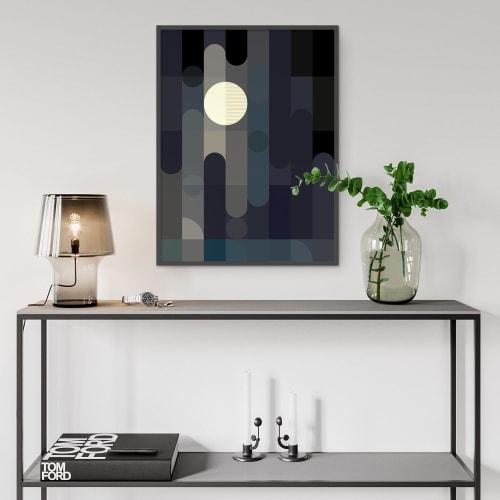 Art & Wall Decor by Michael Grace & Co seen at Seattle, WA, Seattle - Lunar Elements Art Print