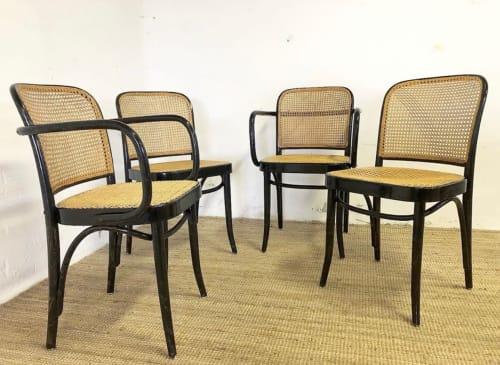 Chairs by BillysDotterStudio seen at Malmö, Malmö - Original Thonet Rattan Cahirs