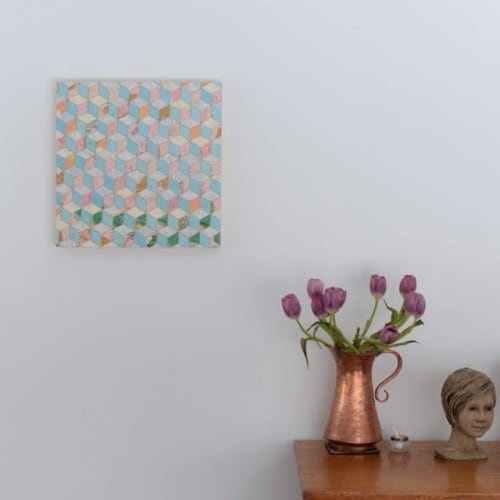 Paintings by Tristesse Seeliger seen at Private Residence, Toronto - Geometric Collage