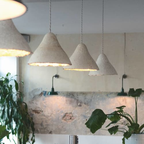 Pendants by Tŷ Syml seen at FREA, Berlin - Mycelium pendants