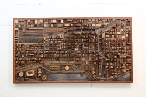 Chicago City Scape | Sculptures by Craig Forget | Private Residence, Essex, Ontario in Essex