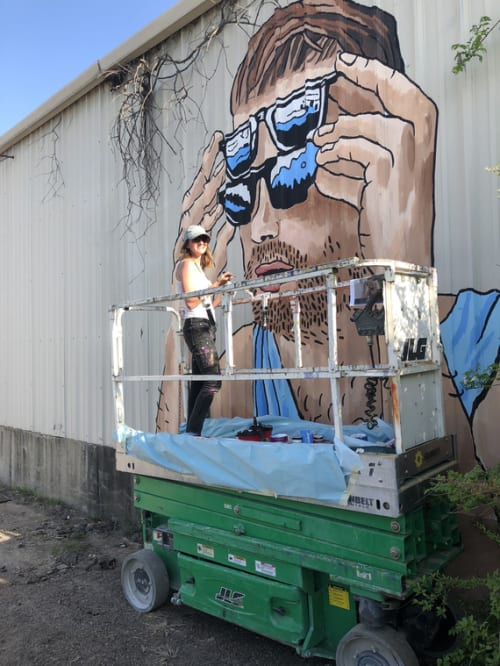 Street Murals by Mariel Pohlman seen at Nowhere, TX, Dallas - Double Vision