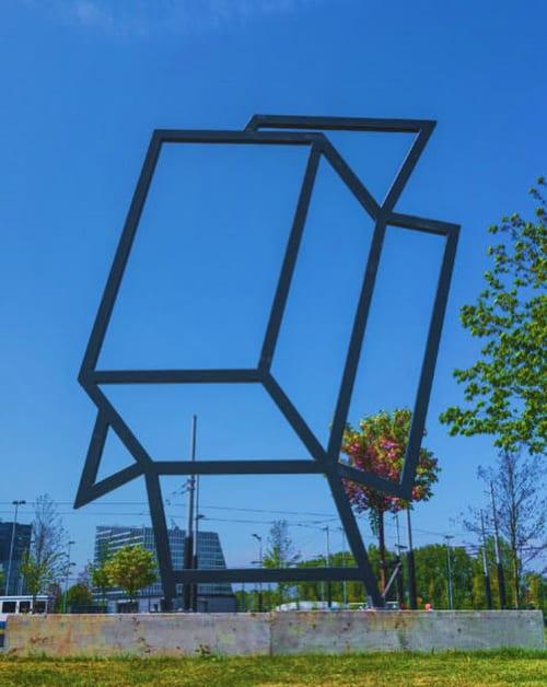 """Public Sculptures by Jeroen Henneman seen at De Boelelaan, Amsterdam - """"The Box"""""""