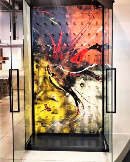 Furniture by Galerie LISABEL seen at Tendances Concept, Montréal - Custom Art Wine Cellar
