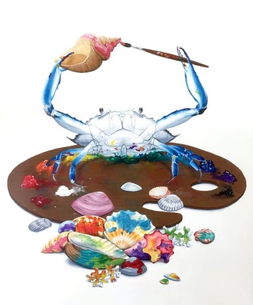 Painting Crab | Paintings by Daniela de Castro Sucre